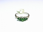 Chrome Diopside in 14kt. Yellow Gold Ring