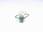 Emerald in 10kt. Yellow Gold Ring