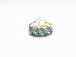 Emerald & Diamond in 10kt. Yellow Gold Ring