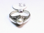 Pearl in 14kt. White Gold Ring