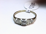 Diamond in 14kt. Yellow & White Gold Ring