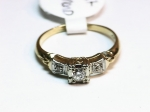 Diamond in 14kt. Yellow Gold Ring