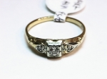 Diamond in 14kt. Yellow and White Gold Ring