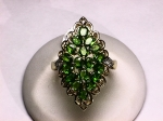 Chrome Diopside and Diamond Ring in 14kt. Yellow Gold