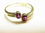 Burmese Ruby & Diamond in 18kt. Yellow Gold Ring