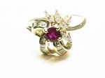 Burmese Ruby & Diamond in 14kt. Yellow Gold Ring