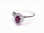 Ruby & Diamond in 14kt. White Gold Ring