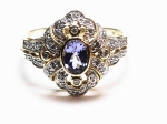 Tanzanite & Diamond in 14kt. Yellow and White Gold Ring