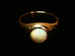 Opal in 14kt. Yellow Gold Ring