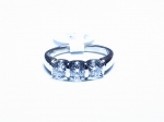 1cttw. Three stone Diamond in 14kt. White Gold Ring