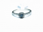 Blue Diamond in 14kt. White Gold Ring