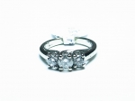 Three Diamonds at 1cttw. in 14kt. White Gold Ring