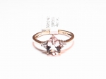 Morganite & Diamond Ring in 10kt. Rose Gold Ring