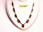 Watermelon Tourmaline in .925 Sterling Silver Necklace