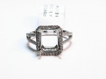 14kt. White Gold with Diamonds Semi-Mount Ring