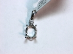 14kt. White Gold with Diamonds Semi-Mount Pendant
